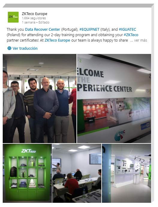 Access Control Solutions Training, ZKTeco Europe, Iguatec, DRC, Equipnet,