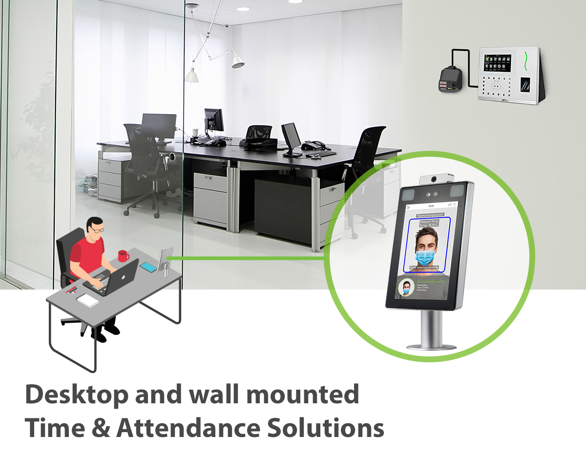 ZKTeco Back to School Access Control Systems with temperature detection