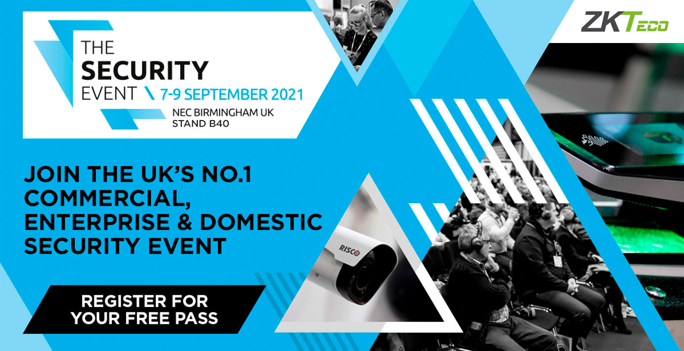 ZKTeco Europe will be participating at the Security Event 2021 and exhibiting the latest biometric innovations. Join us!
