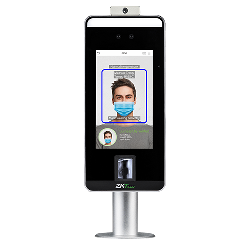SpeedFace-V5L [TD] face and palm recognition terminal with body temperature measurement and mask detection with barrier installation ZKTeco