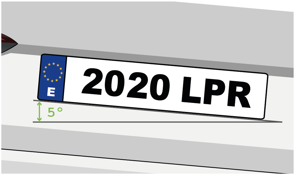 LPR ZKTeco plate position up to 5 degrees