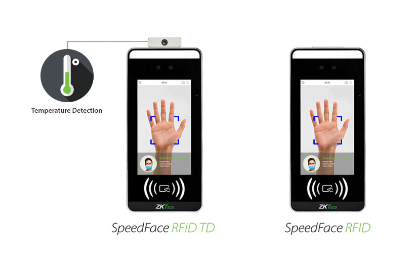 ZKTeco SpeedFace RFID new touchless biometrics access control terminal