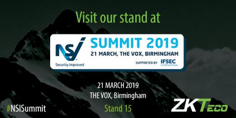 NSI Summit 2019, ZKTeco Europe, NSI Summit, NSI Summit Birmingham,