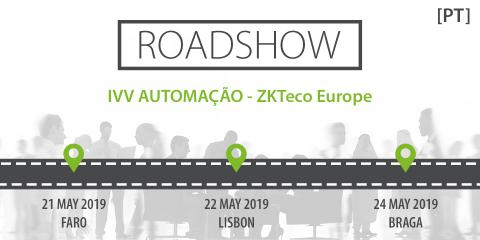 ZKTeco Europe joins IVV AUTOMAÇÃO Roadshow in Portugal, IVV AUTOMAÇÃO, ZKTeco Europe, roadshow, roadshow portugal, roadshow marketing, zkteco software,  Time Attendance, Access Control, Entrance Control, Security Inspection, biometrics,