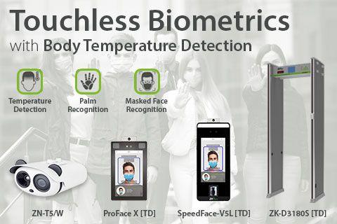 ZKTecos Touchless biometrics with body temperature detection ZKTeco