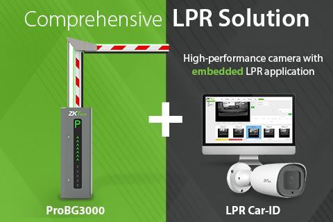 ZKTeco LPR Car ID + ProBG3000 Vehicle Access Management Solution