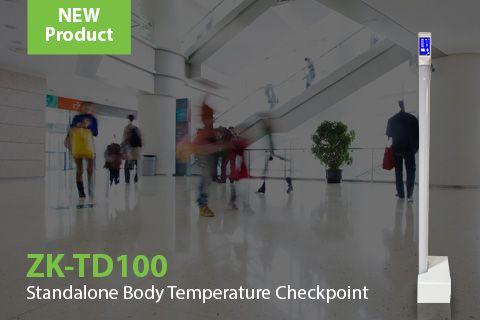 New ZK-TD100 ZKTeco's Infrared thermometer system for body temperature measurement