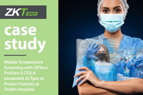 Mobile Temperature Screening with ZKTeco ProFace X [TD] & Vanderbilt ACTpro to Protect Patients