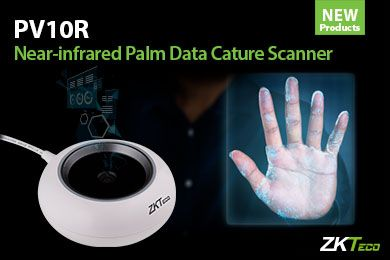 ZKTeco's new PV10R Near-infrared Biometrics Palm Scanner