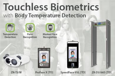 Touchless biometrics with fever detection ZKTeco