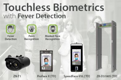 Touchless biometrics with fever detection ZKTeco