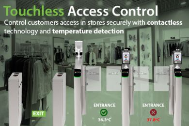 ZKTeco Access Control Turnstiles with Facial recognition biometrics