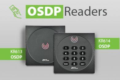 Nuovi lettori di schede ZKTeco KR614 e KR613 OSDP per sistemi di controllo dell'accesso
