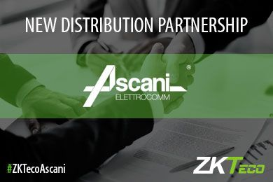 ZKTeco Europe enters a Distribution Partnership with Ascani Srl in Italy