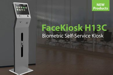Introducing FaceKiosk H13C, ZKTeco Europe, Visible light facial recognition technology, self service kiosk,