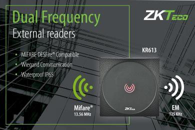 ZKTeco Europe, KR610, KR613, Wiegand readers, ZKTeco,