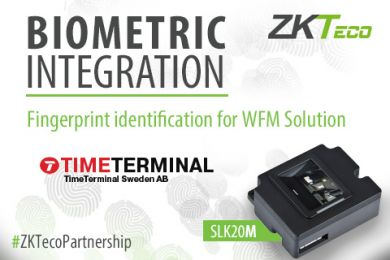 ZKTeco Europe biometrics technology integrated with TimeTerminal Sweden, TimeTerminal Sweden, Silk20M, SLK20, ZKTeco Europe, ZKTeco,
