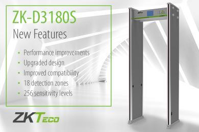 New features ZK-D3180S Walk Through Metal Detector