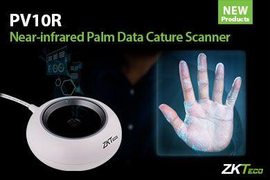 Il nuovo scanner biometrico per palmi della ZKTeco PV10R nel vicino infrarosso