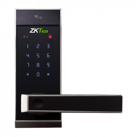 AL10B Lever Lock with Touch Screen and Bluetooth Smart Door Lock Digital Lock with 2 Mifare Cards