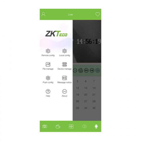 AntarView-Pro-Live-View-Settings-Screen-ZKTeco