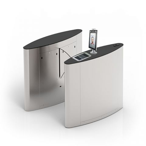 FBL500-D Pro Flap barrier with integrated QR and passport scanner of ZKTeco