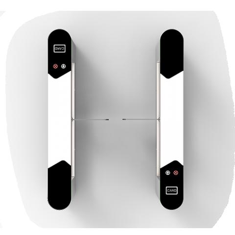 SBTL6000 Swing barrier ZKTeco with multiple verification methods, including RFID, fingerprint, QR code, palm verification and visible light facial recognition