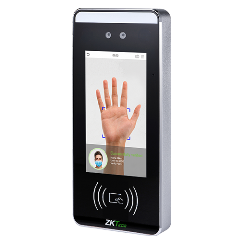SpeedFace RFID Visible Light Facial palm Recognition Series ZKTeco