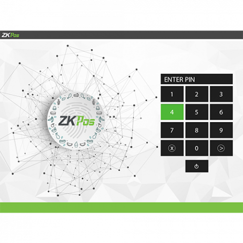 ZKPOS Software login screen