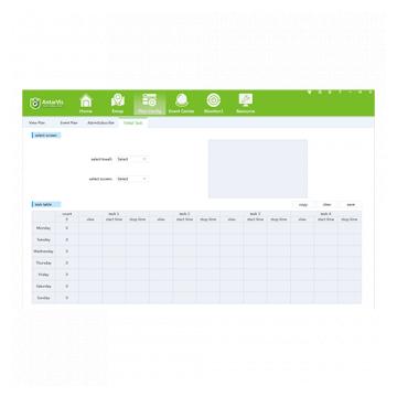 AntarVis Plan Calendar Screen