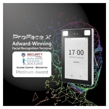 Proface x award wining facial recognition terminal Govies Government Security Awards 2020