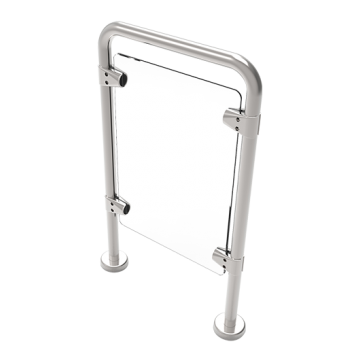 Entrance Control Handrail stainless steel post and rail ZKTeco