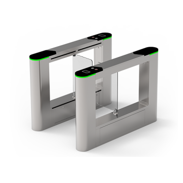 SBTL6000 Swing barrier ZKTeco with multiple verification methods, including RFID, fingerprint, QR code, palm verification and visible light facial recognition