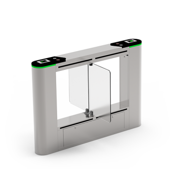 SBTL6200 Dual lane Swing barrier ZKTeco with multiple verification methods, including RFID, fingerprint, QR code, palm verification and visible light facial recognition