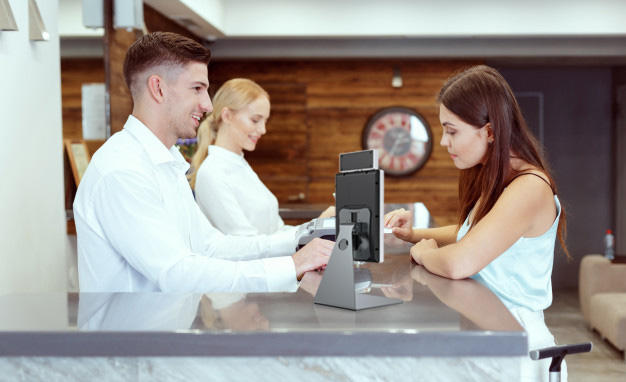 Mounting Bracket for Access Control Series ZKTeco hotel reception