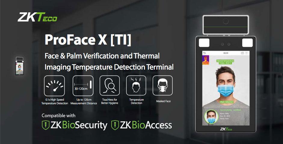 ProFace X [TI] and SpeedFace V5L [TI]: High-Speed Crowd Control Security, ZKTeco Europe ProFace X [TI] and SpeedFace V5L [TI]: High-Speed Crowd Control Security, ProFace X [TI], crowd control security, contactless biometrics access control terminal, conta