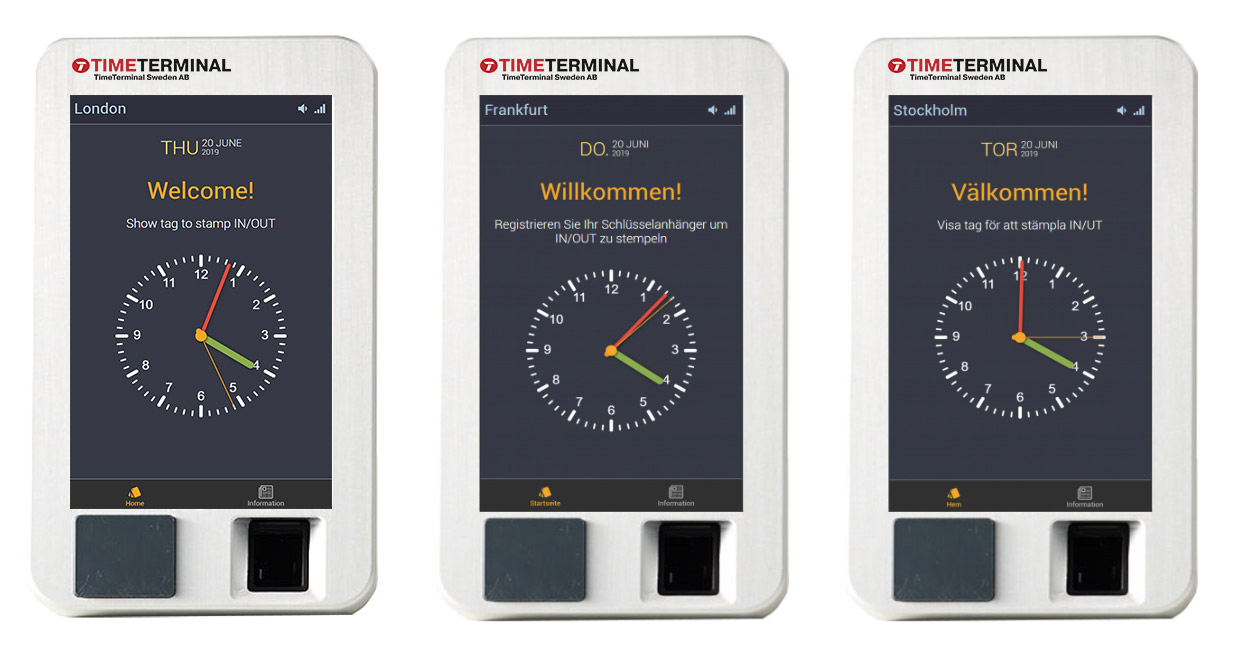 ZKTeco Europe biometrics technology integrated with TimeTerminal Sweden