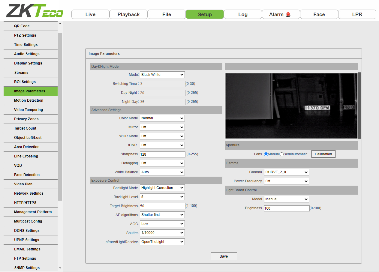 ZKTeco's 4 basics on how to adjust settings for your ZK-LPR Car ID camera web server