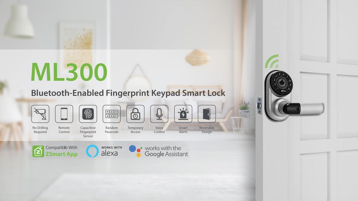 ZKTeco Smart Lock Series ML300 product, Smart Lock, Smart Locks, Smart Door Lock, Keyless electronic door lock, smart access,