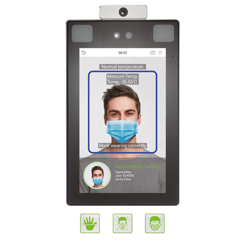 ProFace X  [TD] ZKTecos Touchless Biometrics with Fever Detection